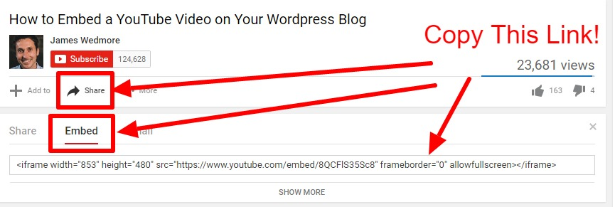 How to Embed a YouTube Video on Your WordPress Blog