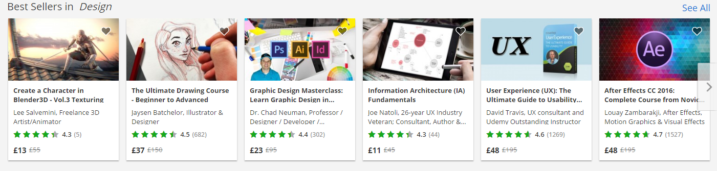 udemy online course selection