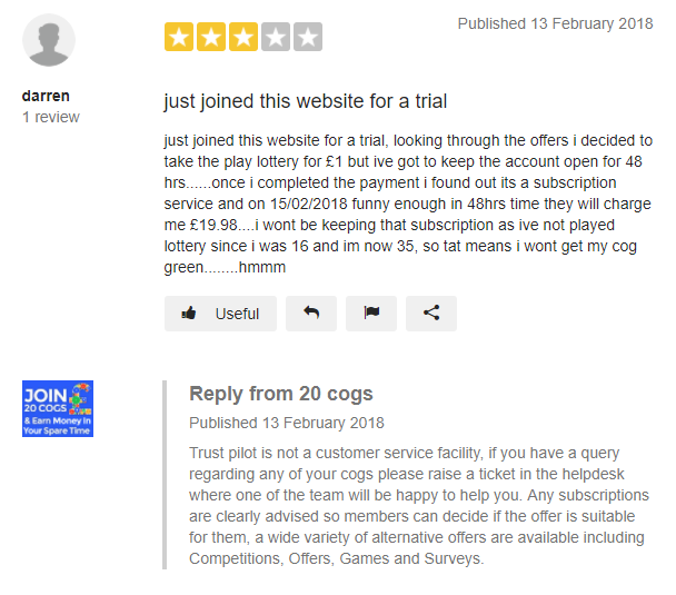 20 cogs Reviews Read Customer Service Reviews of 20cogs co uk 2 of 21