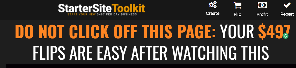 Starter Site Toolkit An Easy 497 Per Day Business Plans