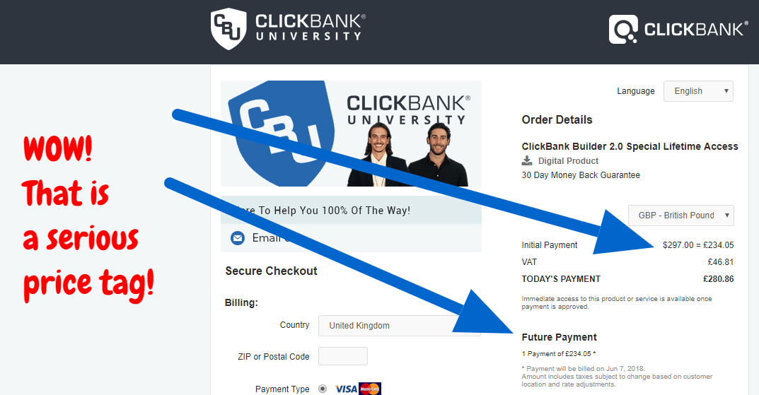 CLICKBANK pagebuilder very expensive