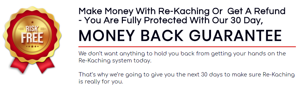 Re Kaching money back guarantee