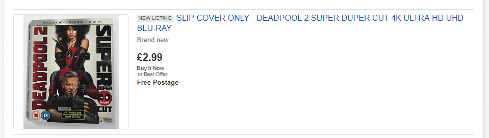 deadpool selling at ebay vs magpie