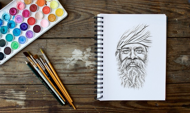 drawing of indian man
